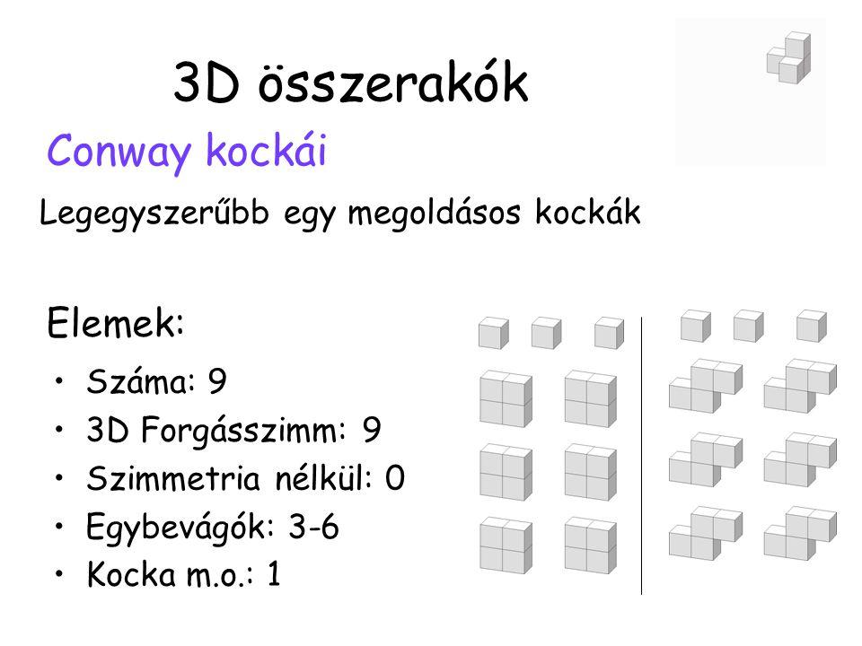 3D összerakók Conway kockái Elemek: