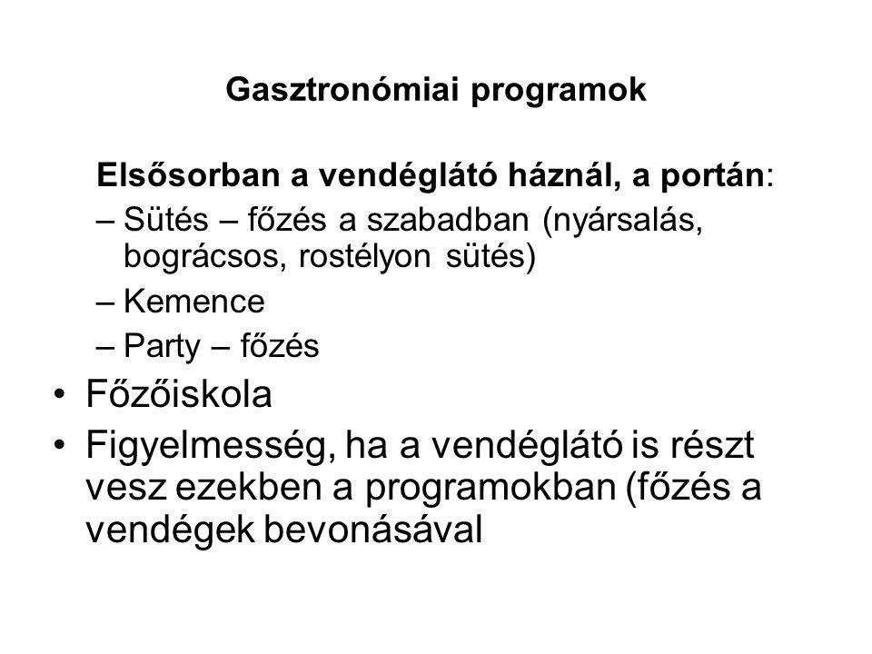 Gasztronómiai programok
