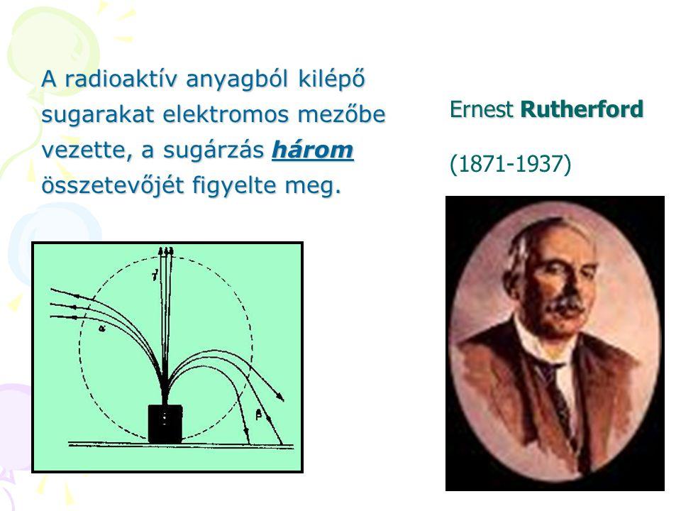 A radioaktív anyagból kilépő sugarakat elektromos mezőbe vezette, a sugárzás három összetevőjét figyelte meg.