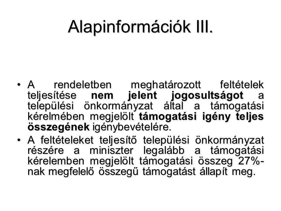 Alapinformációk III.