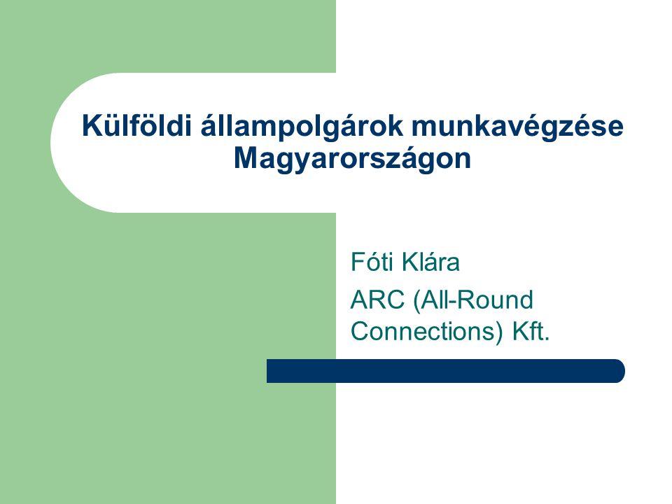 Külföldi állampolgárok munkavégzése Magyarországon