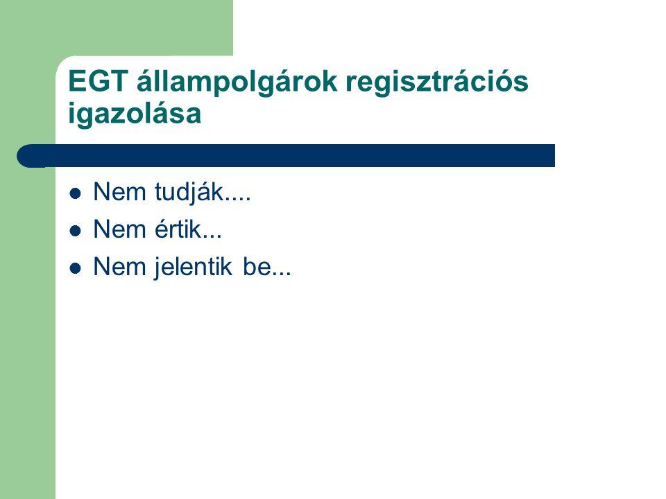 EGT állampolgárok regisztrációs igazolása