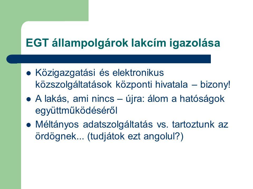 EGT állampolgárok lakcím igazolása