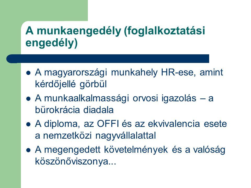 A munkaengedély (foglalkoztatási engedély)
