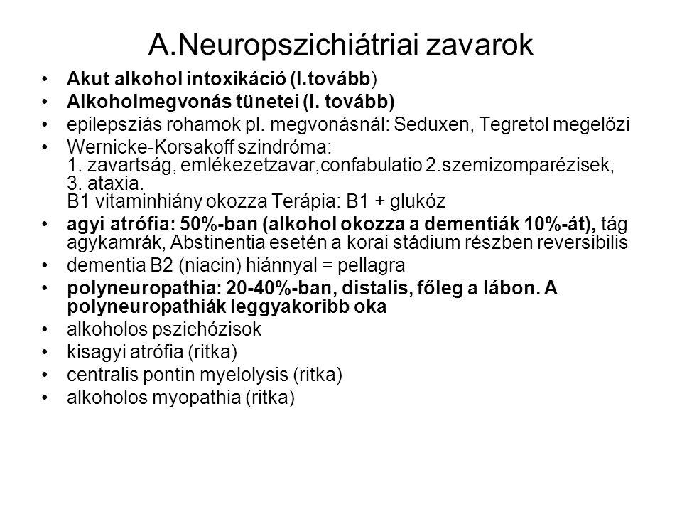 A.Neuropszichiátriai zavarok