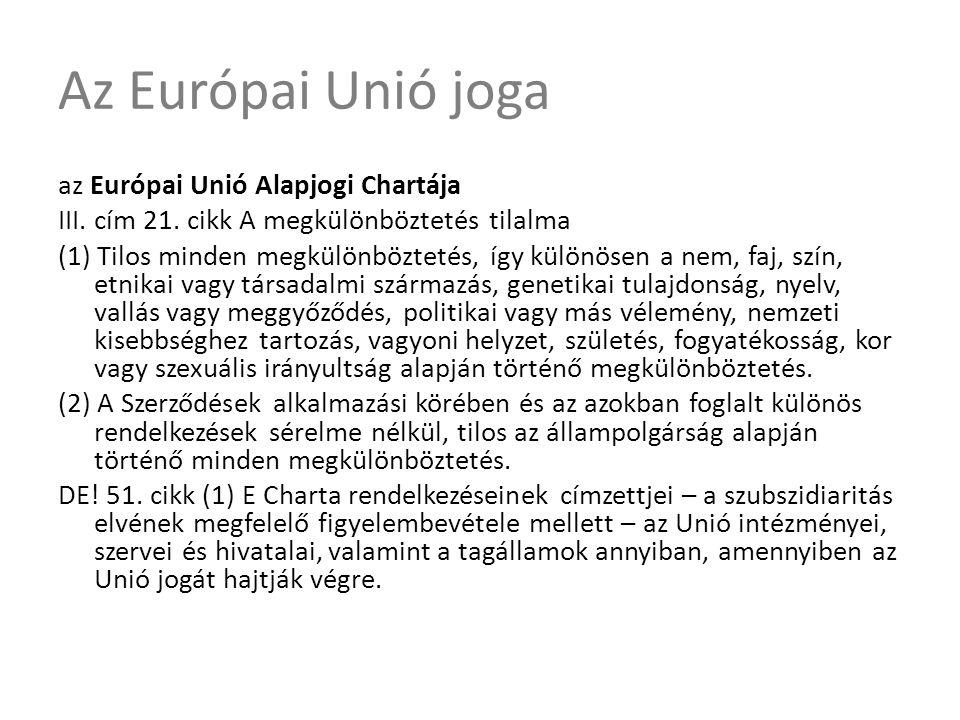 Az Európai Unió joga