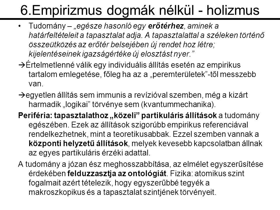 6.Empirizmus dogmák nélkül - holizmus