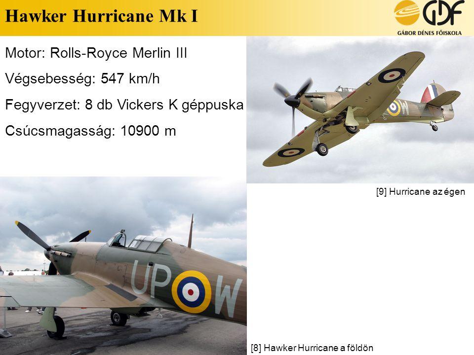 Hawker Hurricane Mk I Motor: Rolls-Royce Merlin III