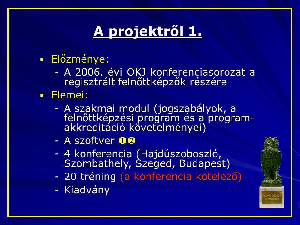 A projektről 1. Előzménye: