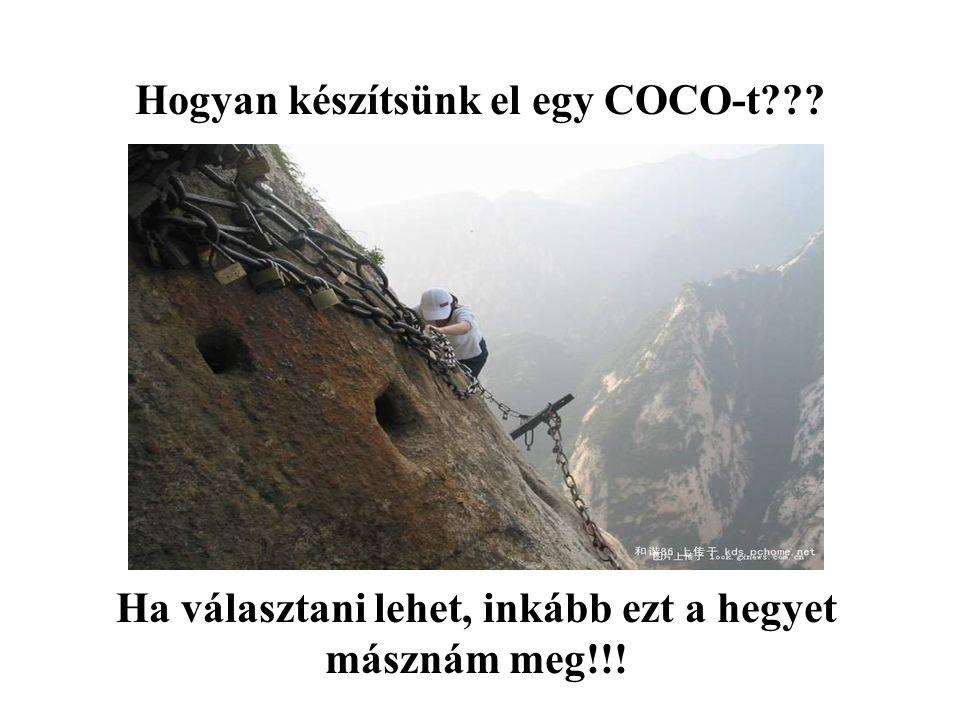 Hogyan készítsünk el egy COCO-t