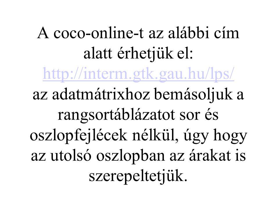 A coco-online-t az alábbi cím alatt érhetjük el: http://interm. gtk