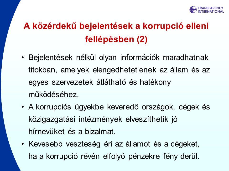 A közérdekű bejelentések a korrupció elleni fellépésben (2)