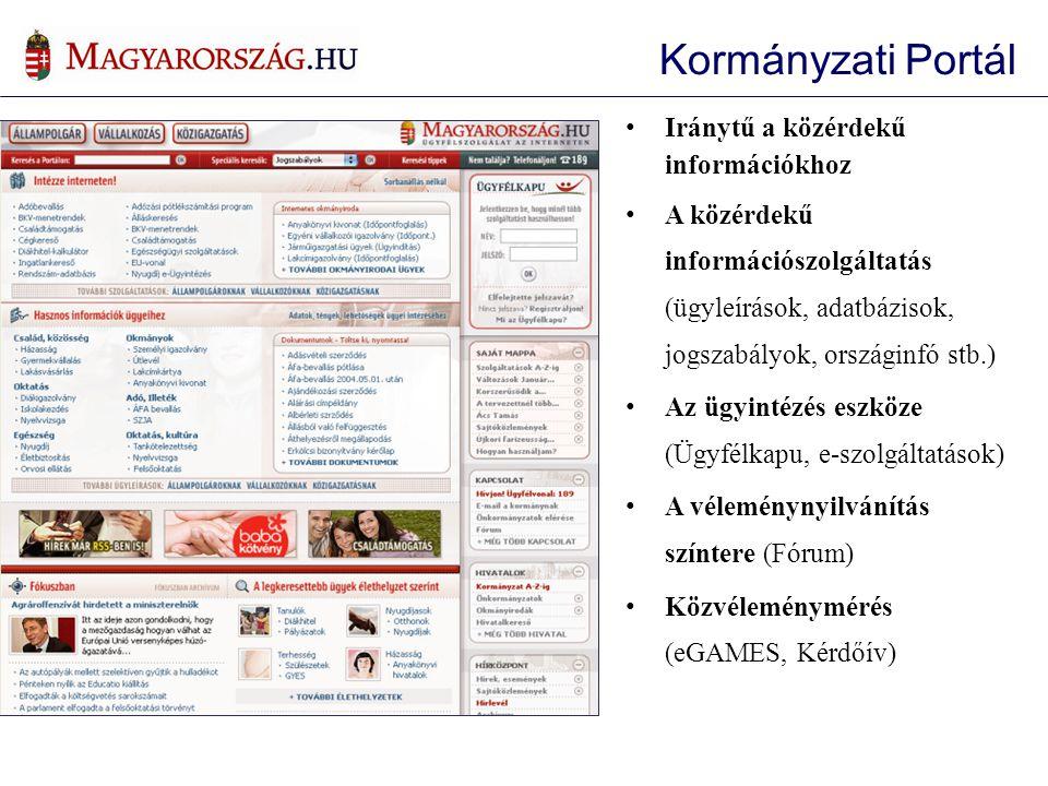 Kormányzati Portál Iránytű a közérdekű információkhoz