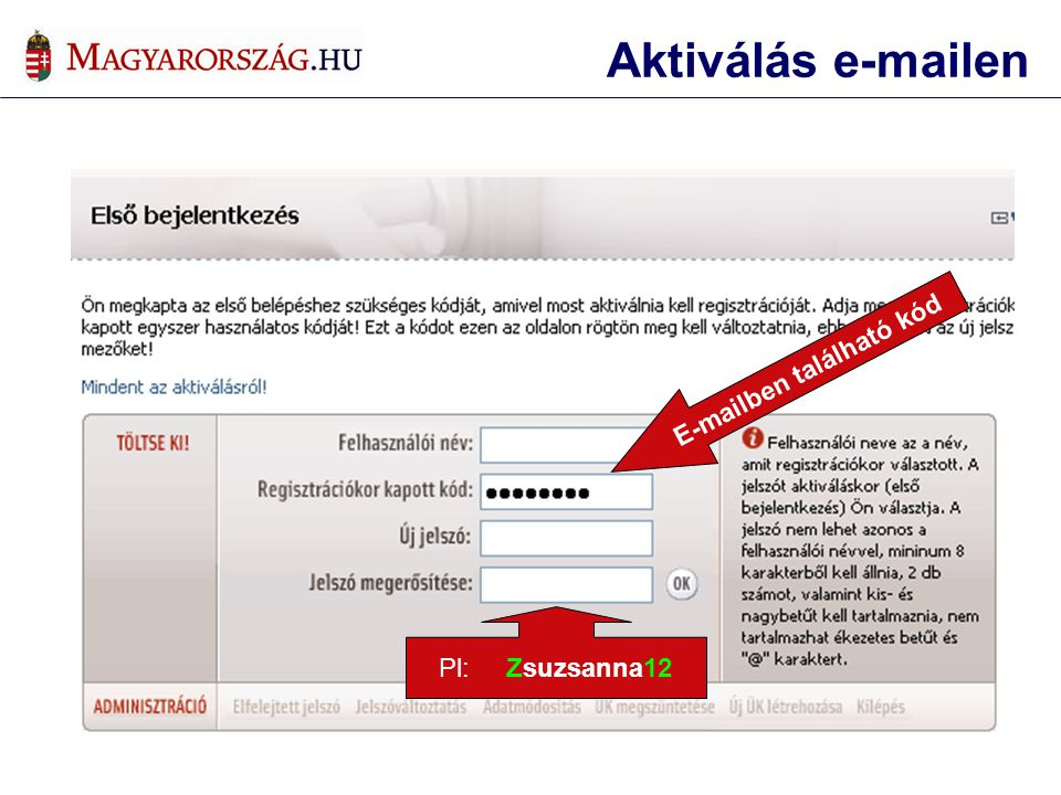 E-mailben található kód