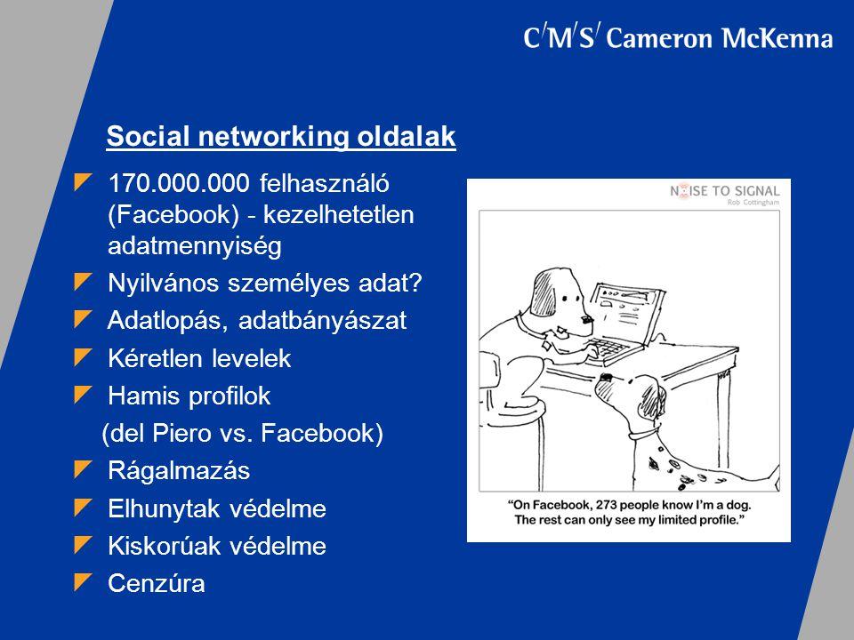 Social networking oldalak