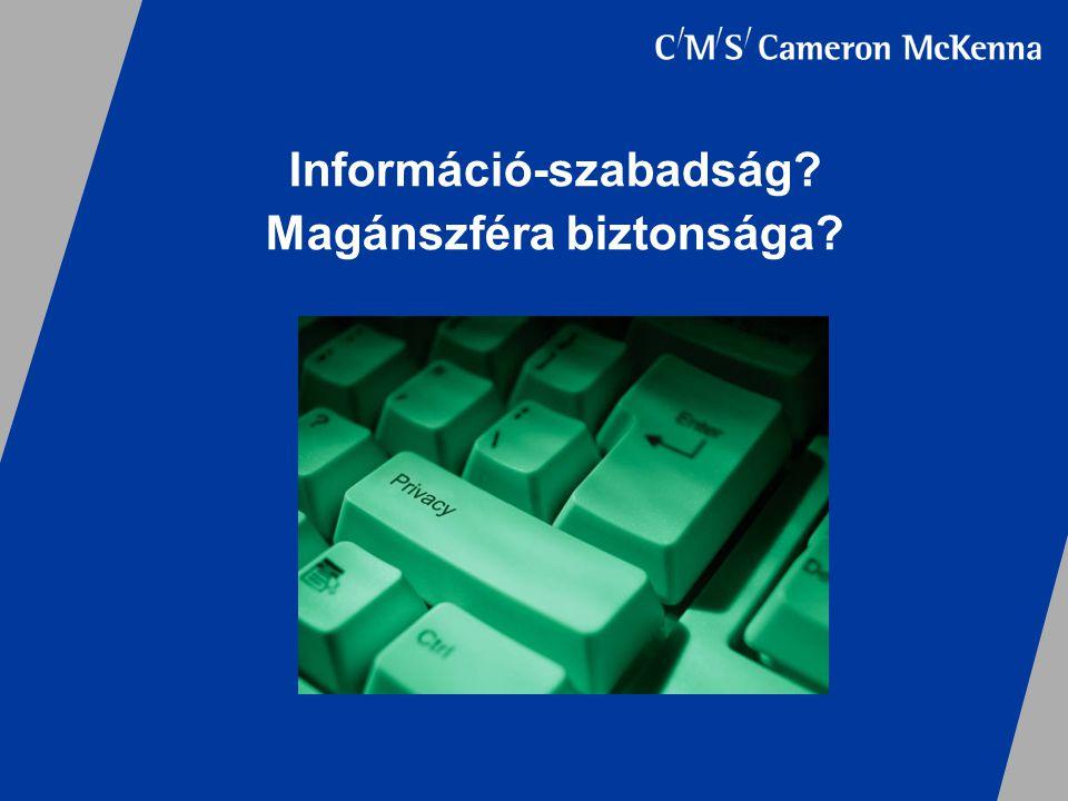 Információ-szabadság Magánszféra biztonsága