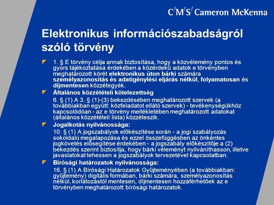 Elektronikus információszabadságról szóló törvény