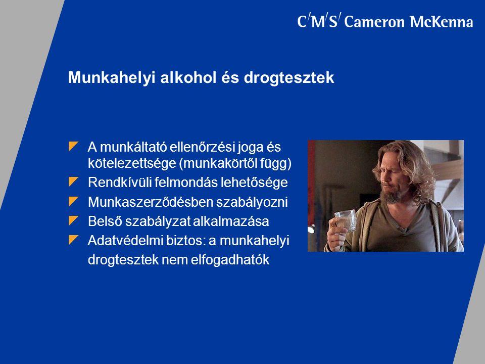 Munkahelyi alkohol és drogtesztek