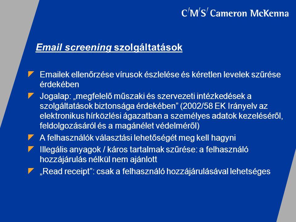 Email screening szolgáltatások