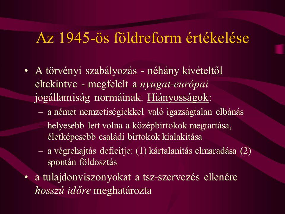 Az 1945-ös földreform értékelése