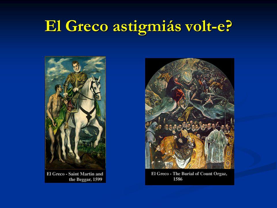 El Greco astigmiás volt-e