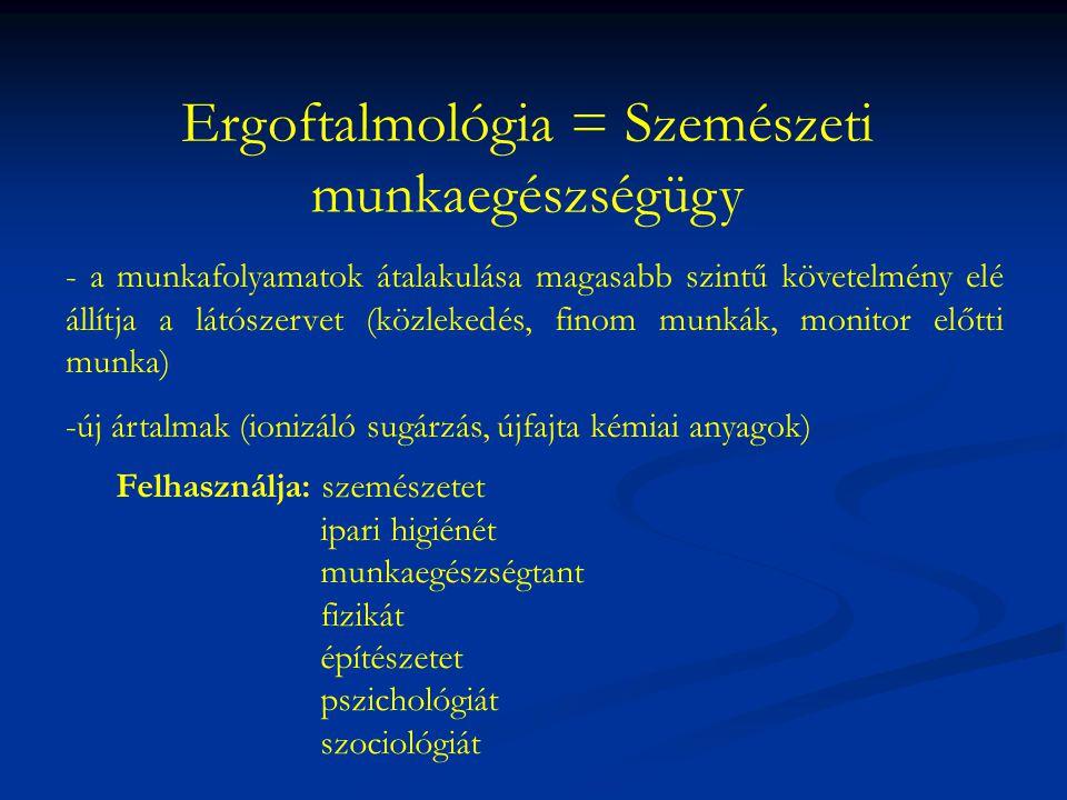 Ergoftalmológia = Szemészeti munkaegészségügy