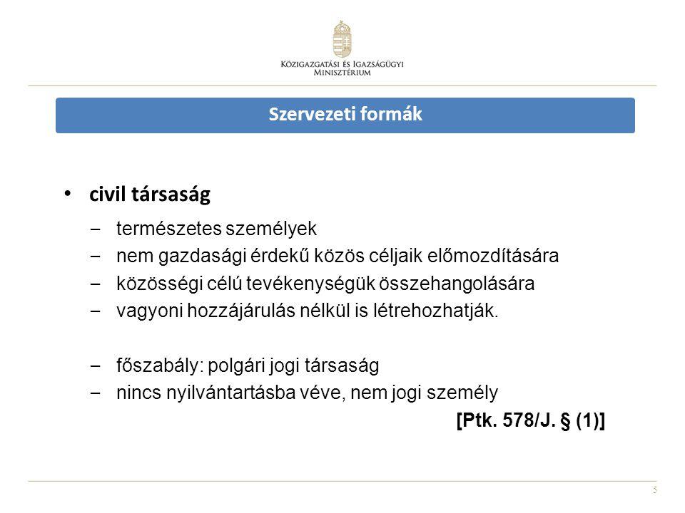 civil társaság természetes személyek