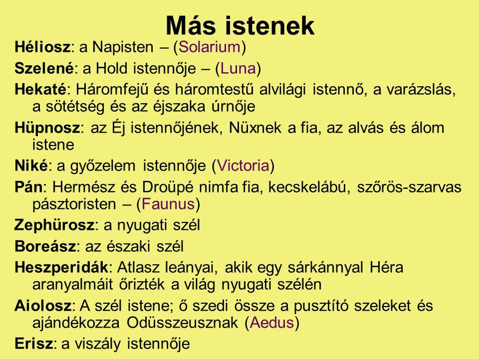 Más istenek Héliosz: a Napisten – (Solarium)