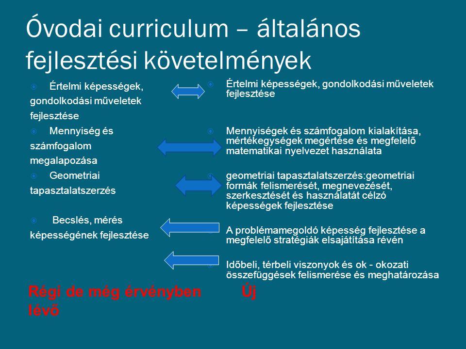 Óvodai curriculum – általános fejlesztési követelmények