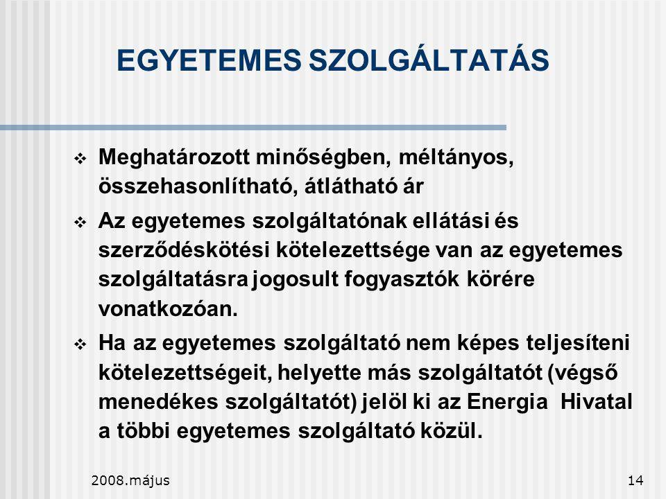 EGYETEMES SZOLGÁLTATÁS
