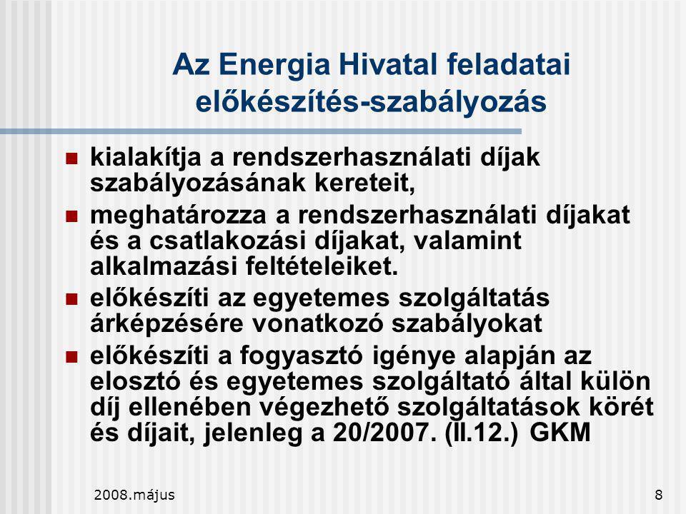 Az Energia Hivatal feladatai előkészítés-szabályozás
