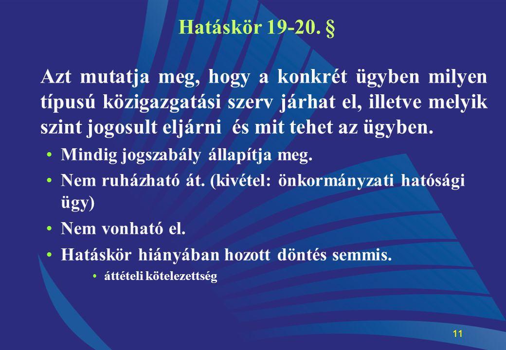 Hatáskör 19-20. §
