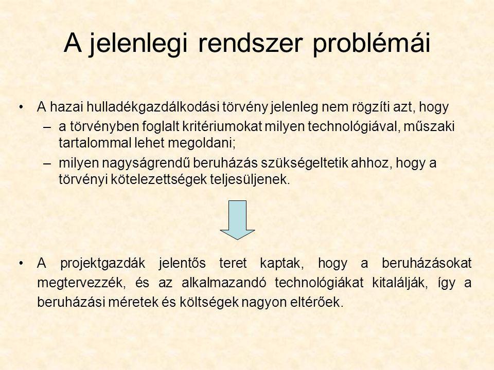 A jelenlegi rendszer problémái