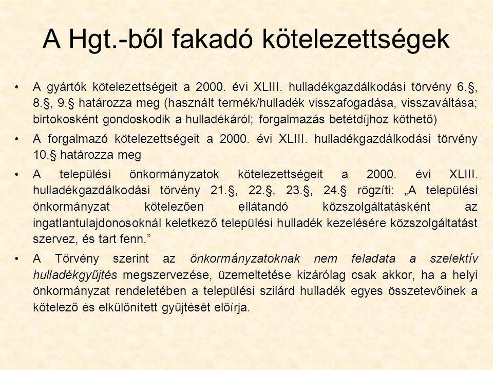 A Hgt.-ből fakadó kötelezettségek