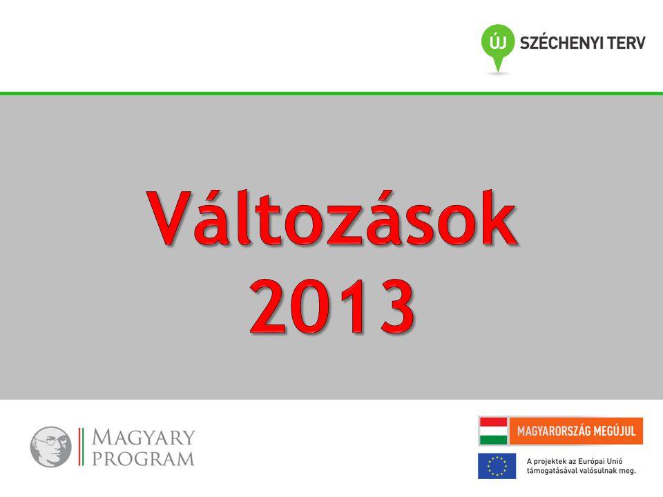 Változások 2013