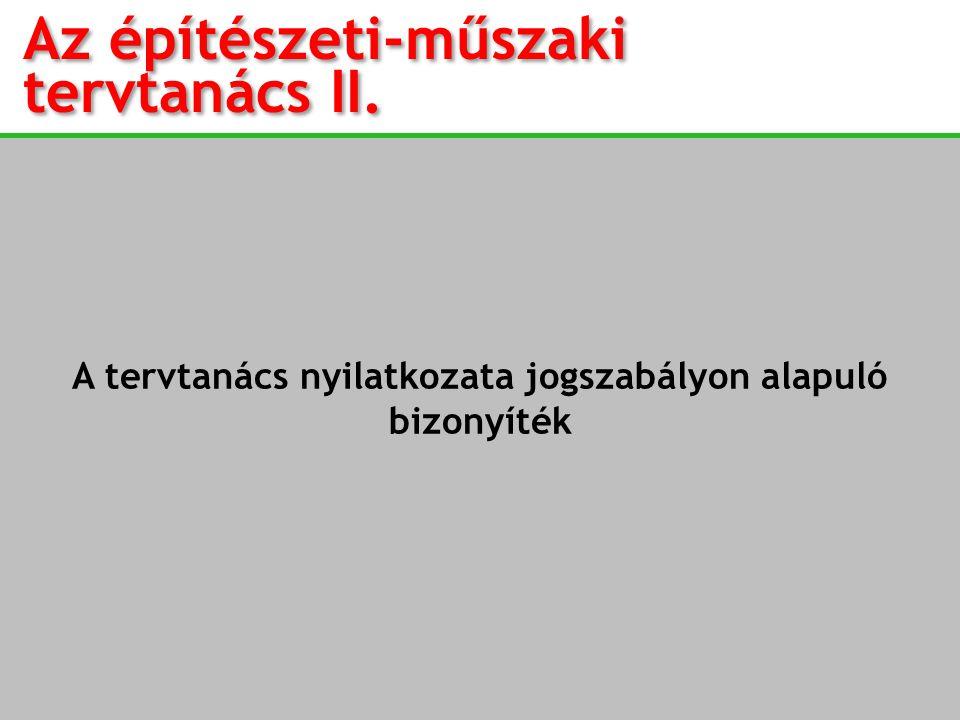 Az építészeti-műszaki tervtanács II.