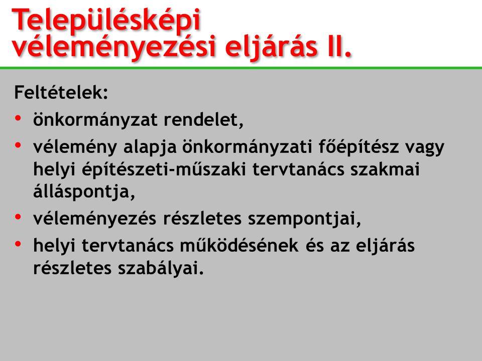 Településképi véleményezési eljárás II.
