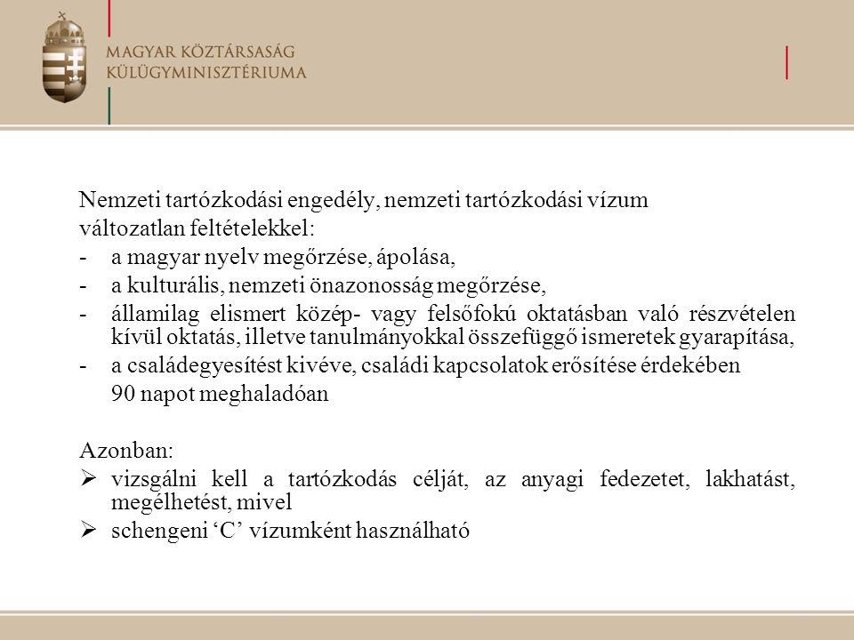 Nemzeti tartózkodási engedély, nemzeti tartózkodási vízum