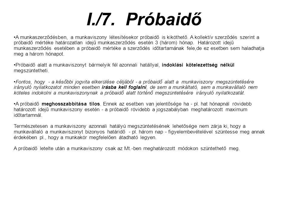 I./7. Próbaidő