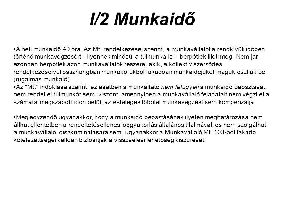 I/2 Munkaidő