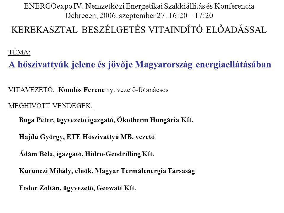 A hőszivattyúk jelene és jövője Magyarország energiaellátásában