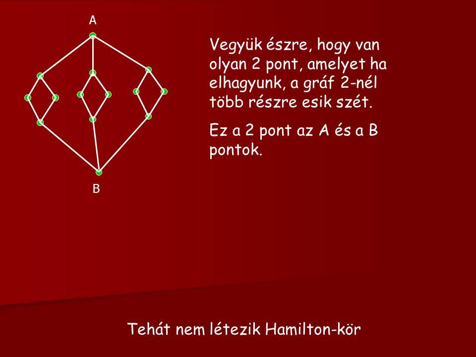 Tehát nem létezik Hamilton-kör