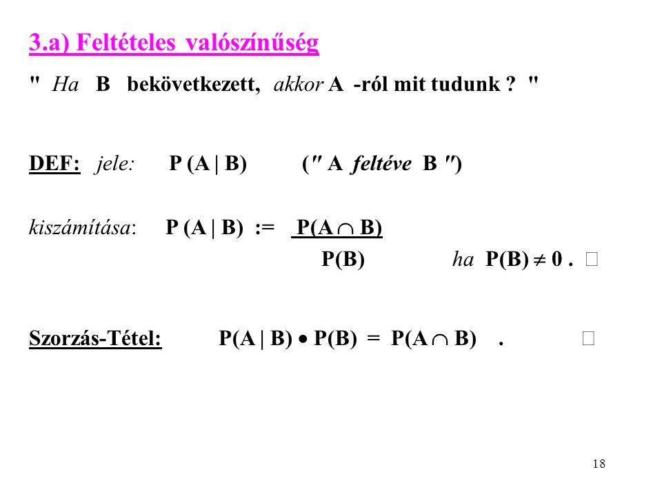 3.a) Feltételes valószínűség
