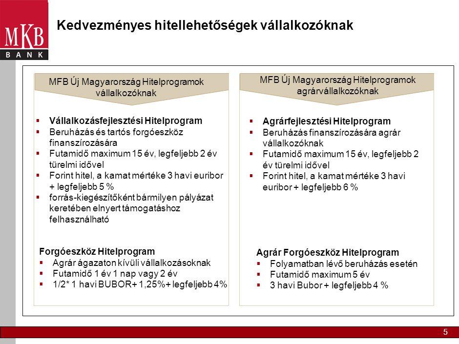 Garancia programok MV Zrt. Portfolió-garancia