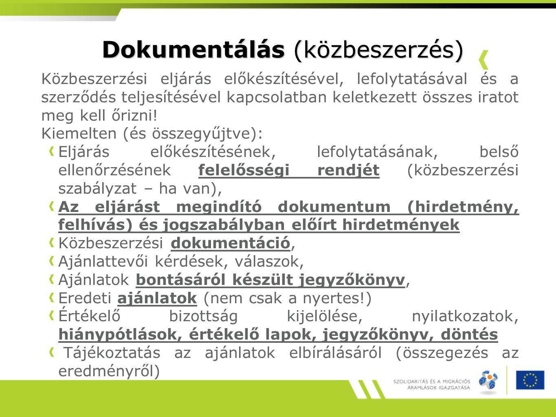 Dokumentálás (közbeszerzés)