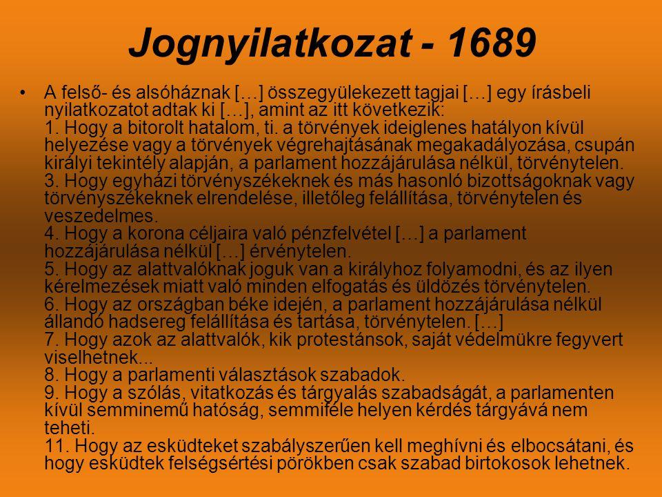 Jognyilatkozat - 1689