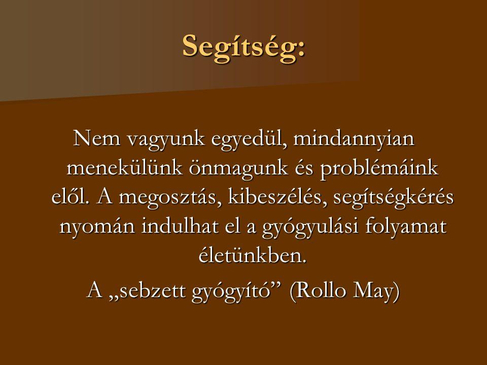 """A """"sebzett gyógyító (Rollo May)"""