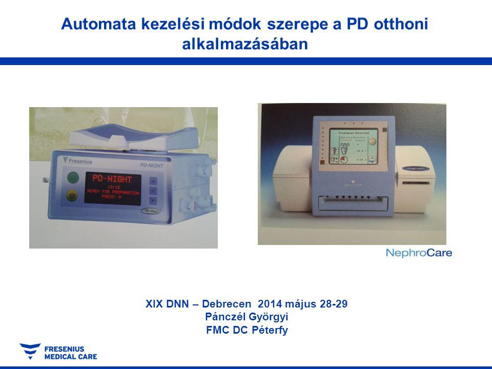 Automata kezelési módok szerepe a PD otthoni alkalmazásában