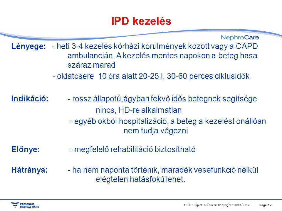 IPD kezelés