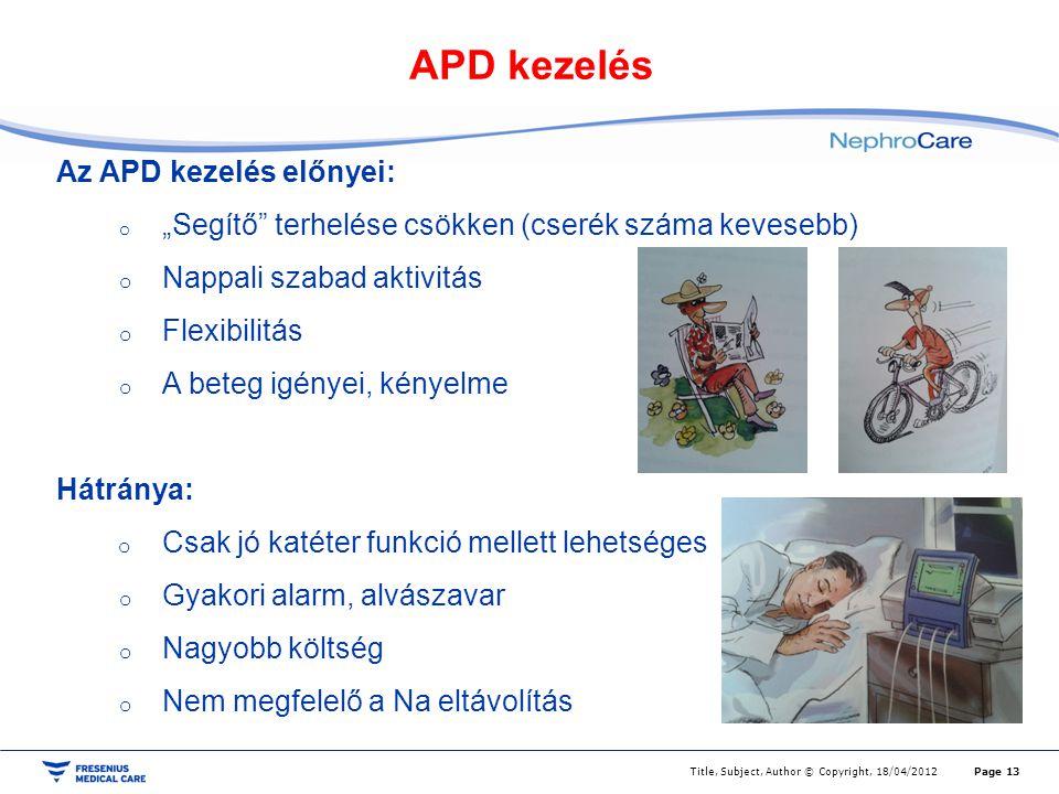 APD kezelés Az APD kezelés előnyei: Nappali szabad aktivitás